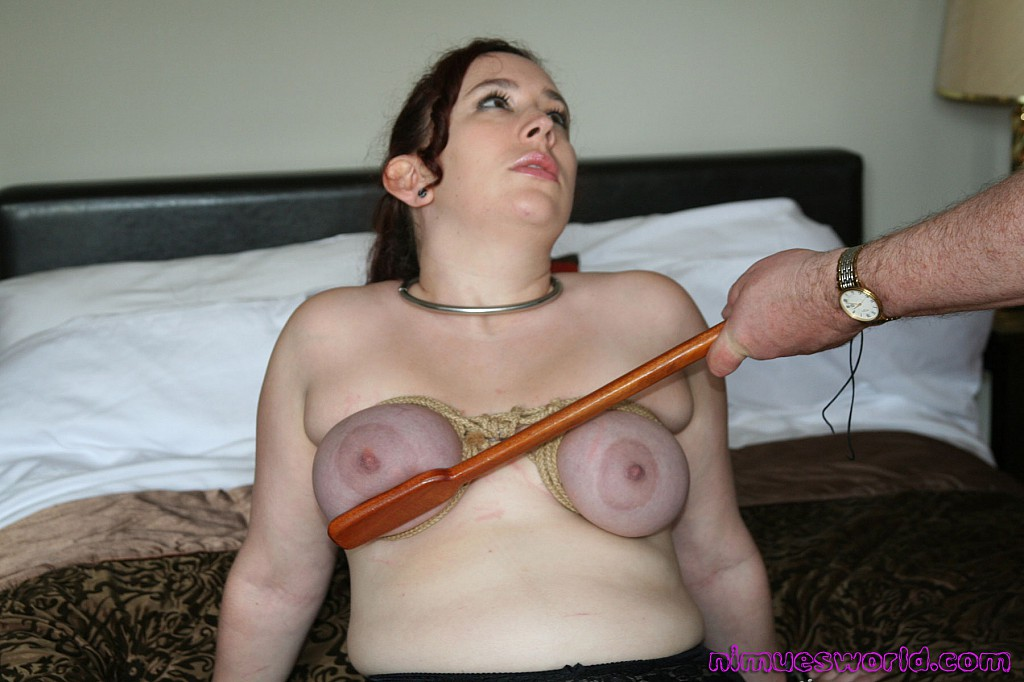 Bondage and spank face